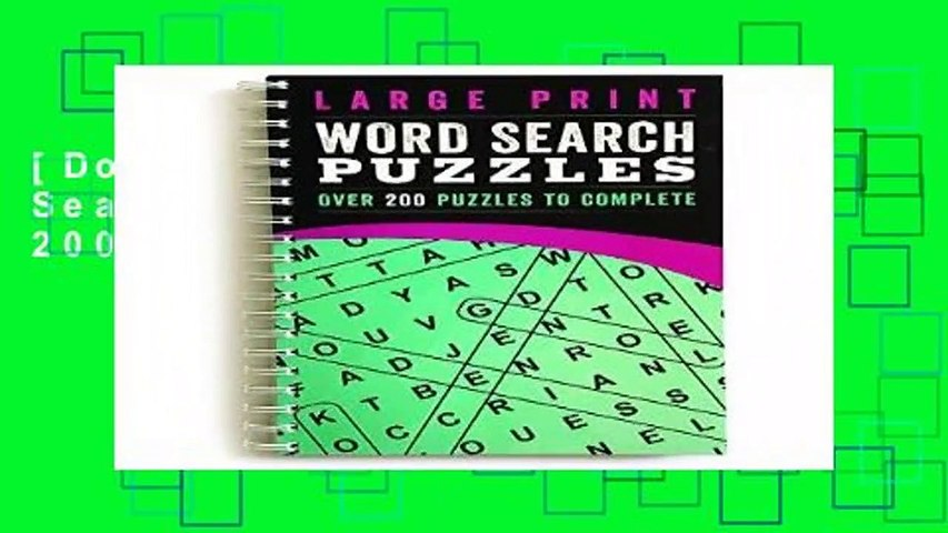 [Doc] Large Print Word Search Puzzles: Over 200 Puzzles to Complete