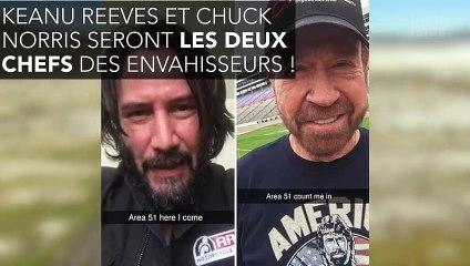 Keanu Reeves et Chuck Norris vont participer à l'invasion de la zone 51