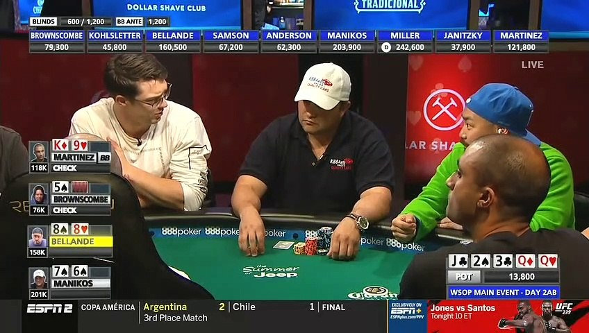 World Series Of Poker 2019 Main Event Day 2 Part 3