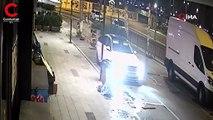 Hırsızlar vatandaşları döner bıçağıyla kovaladı