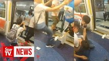 Hong Kong man pleads with alleged triad attackers in train