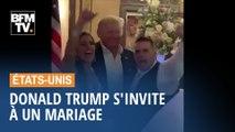 Donald Trump s'invite à un mariage dans l'un de ses clubs de golf