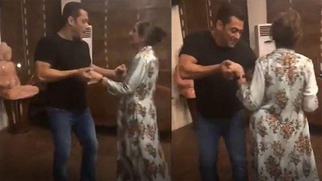 Salman Khan shakes a legwith mother Salma Khan; Watch Video | Boldsky