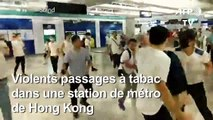 Hong Kong: agressions brutales de manifestants dans une station de métro