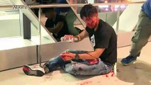 Mob attacks HK protesters in subway station