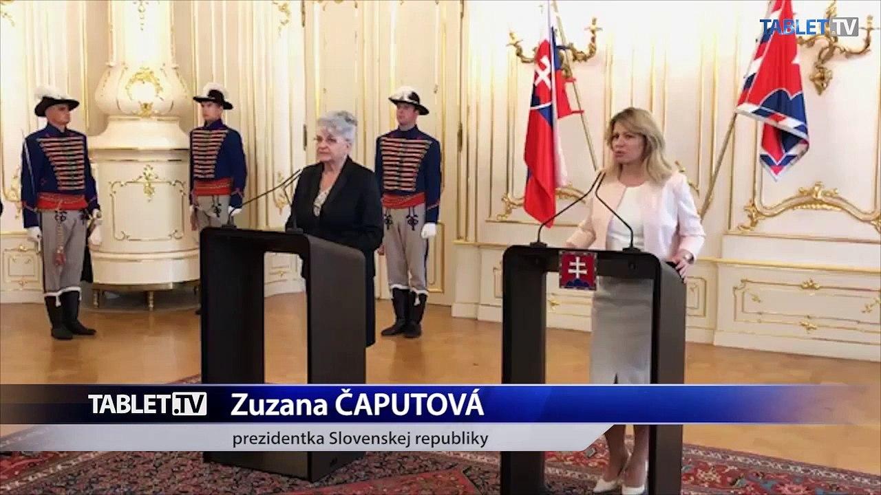 ZÁZNAM: Prezidentka Z. Čaputová prijala predsedníčku Najvyššieho súdu D. Švecovú