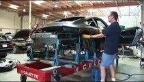 Porsche repair on a Celette frame machine with dedicated jigs fix autocollision Huntington Beach