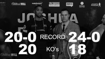 Anthony Joshua v Joseph Parker -  Tale of the tape