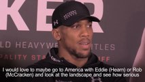 Anthony Joshua eyes up showdown with Deontay Wilder