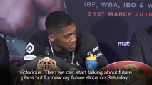 Anthony Joshua remains focused on heavyweight showdown with Joseph Parker