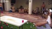 Epic 'beer pong' shot