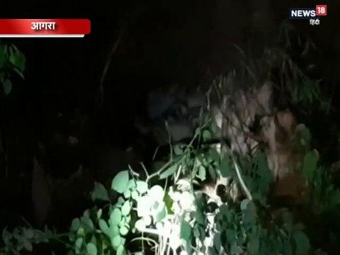 VIDEO: खेत में बने गड्ढे में फंस गया बाघ का बच्चा, बचाने में जुटी वन विभाग की टीम