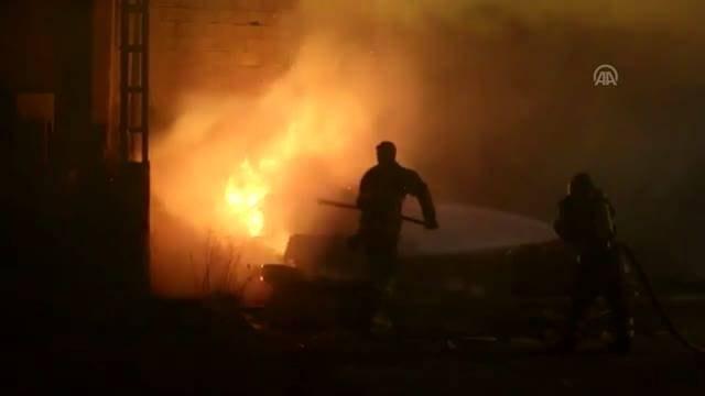 Erzincanda depo yangını