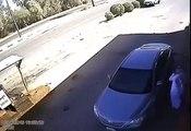 Ce conducteur arrache la pompe à essence en quittant la station service