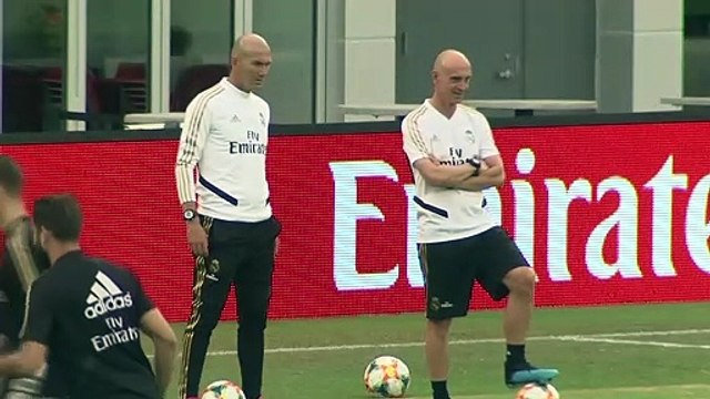 Zidane looks ahead to Real Madrid's friendly against Arsenal in Washington
