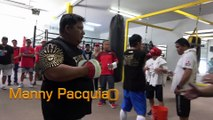 Manny Pacquiao A Look Back At Last Day At The Gym For Thurman Fight