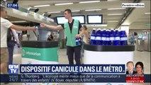Distribution d'eau, messages d'alerte... Comment la RATP gère la canicule dans le métro