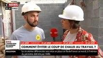 Canicule: Les employés du bâtiment s'adaptent face aux fortes chaleurs et adoptent des réflexes- VIDEO