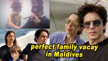 SRK posts pics of perfect family vacay in Maldives