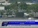 Activists protest docking of US submarine in Subic