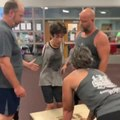 Teen Athlete Without Arms Performs Box Jump with Help from Coaches