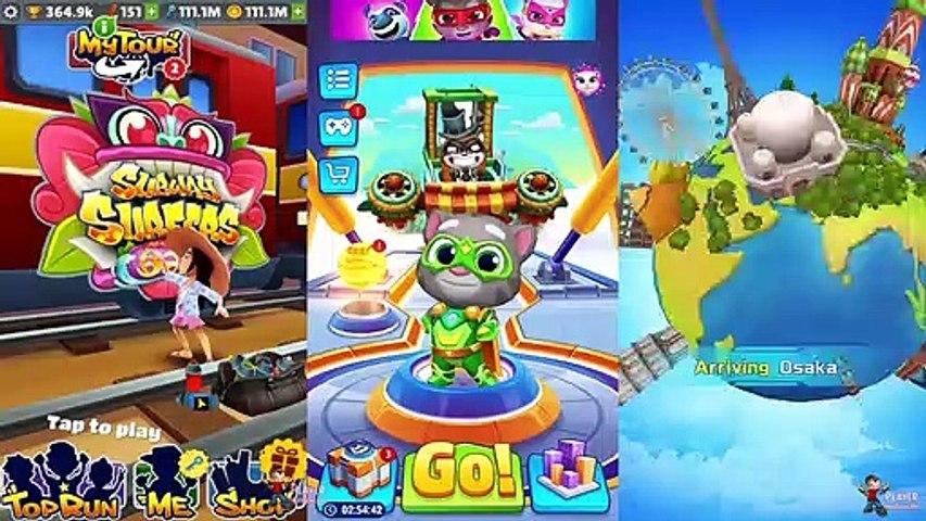 Mei Subway Surfers Bali 2019 Vs Talking Tom Hero Dash Vs Super Wings Jett Run Android/iOS Gameplay