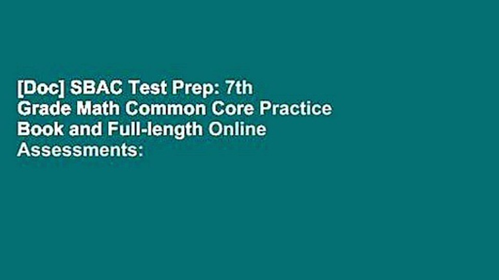 [Doc] SBAC Test Prep: 7th Grade Math Common Core Practice Book and  Full-length Online Assessments: