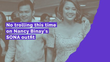No trolling this time on Nancy Binay's SONA outfit