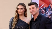 "April Love Geary and Robin Thicke ""Once Upon a Time in Hollywood"" World Premiere Red Carpet"