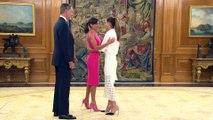 La reacción de los reyes Felipe y Letizia cuando una efusiva Ona Carbonell se salta el protocolo en Zarzuela