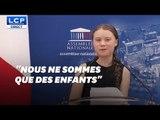 Depuis l'Assemblée, Greta Thunberg répond aux parlementaires opposés à sa venue