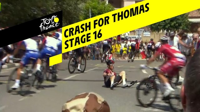 Chute pour Thomas / Crash for Thomas - Étape 16 / Stage 16 - Tour de France 2019