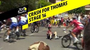 Chute pour Thomas / Crash for Thomas - Étape 16 / Stage 16 - Tour de France 2019