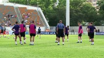 Manchester City train ahead of friendly against Kitchee SC in Hong Kong