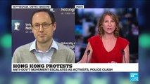 Hong Kong protests : violence against pro-democracy protesters