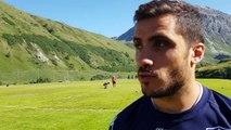 Lucas Dupont, ailier du FCG, au stage à Val d'Isère