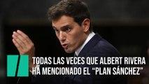 """Todas las veces que Rivera ha mencionado el """"Plan Sánchez"""" en el debate de investidura"""
