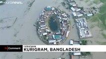 Bangladeş'te sel felaketi: En az 90 ölü
