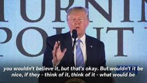 Trump Asks Turning Point USA Teens To 'Imagine' A World Without 'Liar' News Media