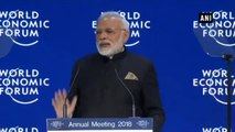 WEF 2018  -  Climate Change Is Huge Threat Right Now - PM Modi