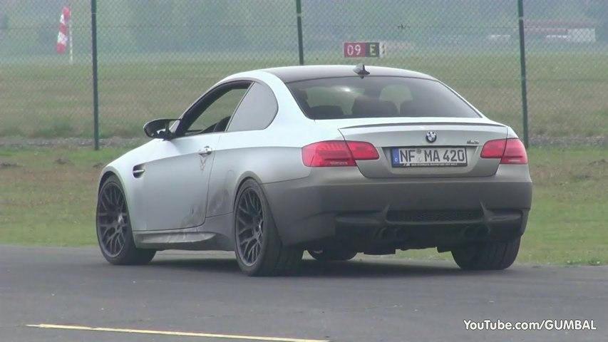 G-POWER BMW E92 M3 SKII CS 600HP - Start, Revs - Dragracing-