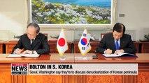 Bolton in S. Korea amid Seoul-Tokyo trade spat