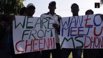 Fans Travel From Chennai To See Their Hero MS Dhoni In Delhi