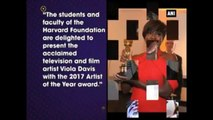American Actress Viola Davis Honoured With Harvard's Artist Of The Year Award