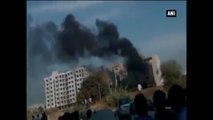 Ahmedabad -  Massive Fire Engulfs Catering Godown