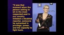 Golden Globe 2017 -  Meryl Streep Attacks Trump in Her Speech