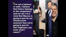 Matt Damon Slams Donald Trump, Says I'm Not A Believer Of Walls