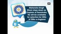 Mahendra Singh Dhoni Steps Down As India ODI, T20I Captain