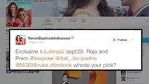 Judwaa 2 -  Varun Dhawan Reveals First Look Of Prem And Raja