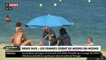 """De moins en moins de femmes se mettent """"seins nus"""" sur les plages en France de peur des agressions verbales et face aux dangers du soleil"""